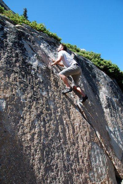 last hold on wall near grouse slab