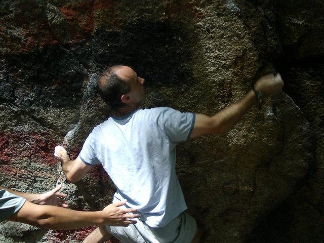 Rock Climbing Photo: Anthony Longabard on Crimps Ahoy.