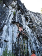 Rock Climbing Photo: Starting up 'Mutilated Corpses'. The first crux is...