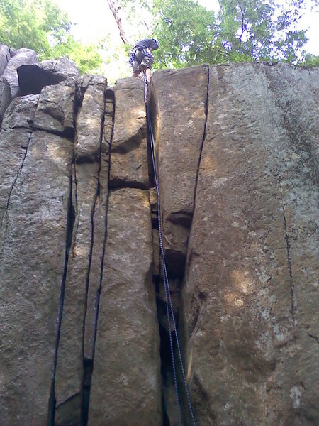 no answer 5.8 off width crack where rope is hangin out