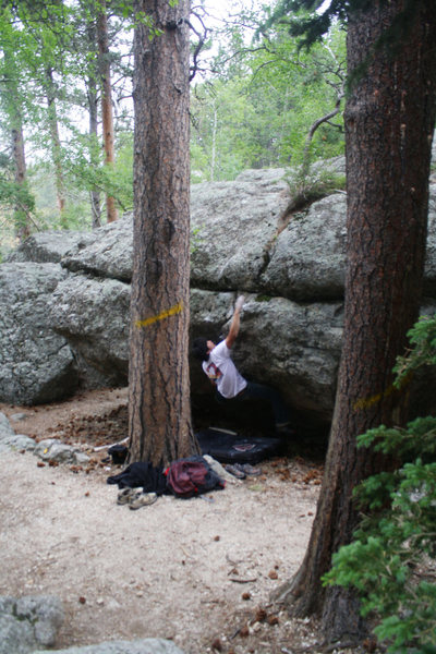 Rock Climbing Photo: Coming out