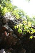 Rock Climbing Photo: Bryan Ferris on the opening moves of Obi-won.