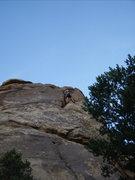 Rock Climbing Photo: Derek finishing...not 5.9 but probably not a soft ...
