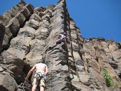 Rock Climbing Photo: resting on a saddle.