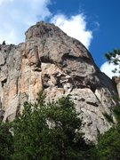 Rock Climbing Photo: The line and approximate belays on Idiot Wind, Sun...