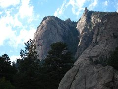 Rock Climbing Photo: Idiot Wind on Sundance Buttress (w/ Firebird start...
