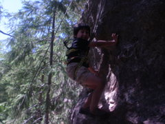 Rock Climbing Photo: Z (5years old now!) at the Pit