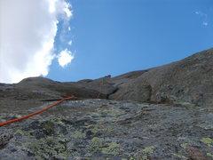 "Rock Climbing Photo: Leading through the ""choss bubbles"", 5.7..."