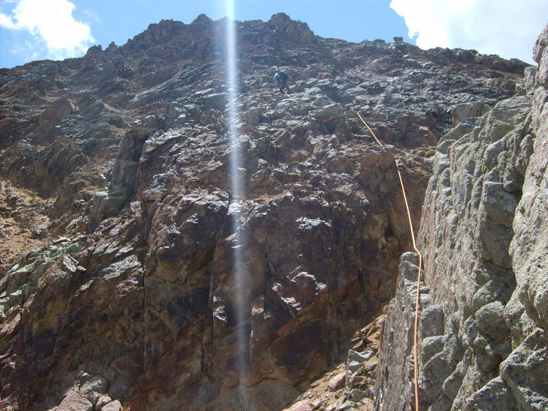Rock Climbing Photo: The beginning of the simul-climbing to the summit.