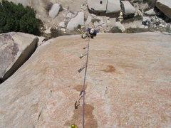 Rock Climbing Photo: Bryan following Super Air.
