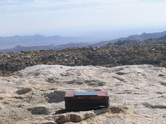 Rock Climbing Photo: View from the top and 40 year old log box.