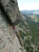 Rock Climbing Photo: John T. following pitch 3.