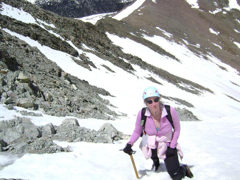 Rock Climbing Photo: Climbing the North Face Couloir