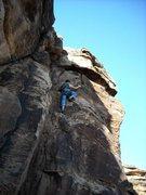 Rock Climbing Photo: Matt Oliver's first lead on Cool Katz