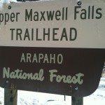 Rock Climbing Photo: Sign for Maxwell Falls.