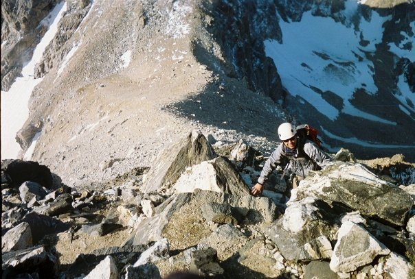 Rock Climbing Photo: up from lower saddle
