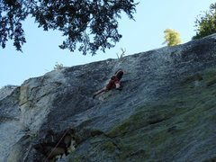 Rock Climbing Photo: Eyeing the crux sequence on the first ascent of Ti...