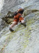 Rock Climbing Photo: Passed the first crux on Tiger's Eye