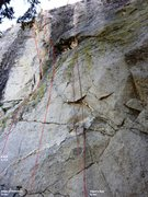 Rock Climbing Photo: Main wall central Topo