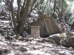 Rock Climbing Photo: The old altar on Churchbowl's left side.