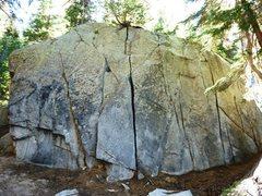 Rock Climbing Photo: The Horseshoe Slabs Boulder