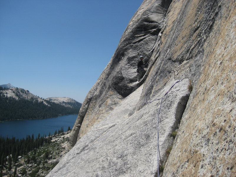 Taken from the bolted belay at the beginning of pitch four.
