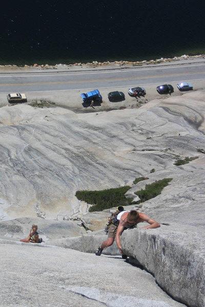 Rock Climbing Photo: Climbing West Country above Tenaya Lake.