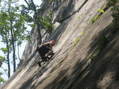 Rock Climbing Photo: Me at the crux of seventh seal