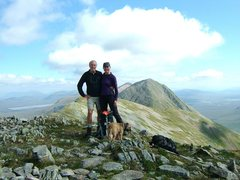 Rock Climbing Photo: Pete and Lyn Armstrong on the summit of Stob na Br...