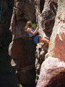 Rock Climbing Photo: Carly Peltier finishing Search 5.8.