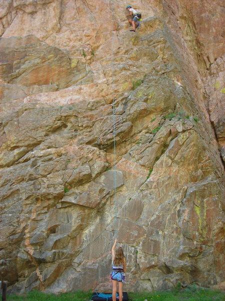Rock Climbing Photo: Parker Frierbach TRing Community Service 5.10a
