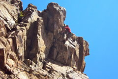 Rock Climbing Photo: Collin Turbert pulling the Ceiling 5.11b on 2nd pi...
