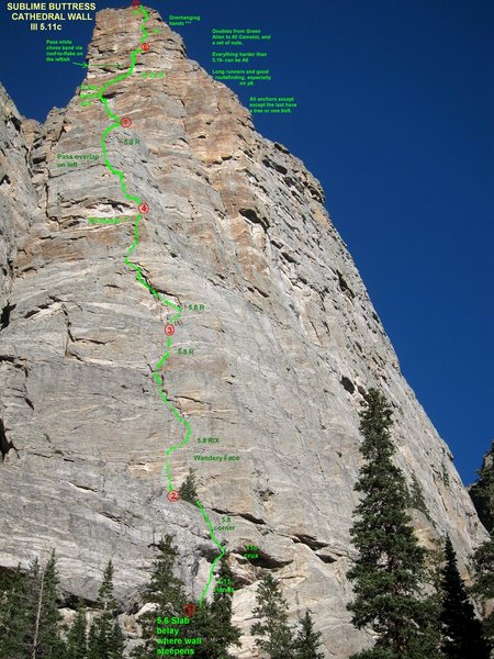 Rock Climbing Photo: Topo - our thoughts on the route.
