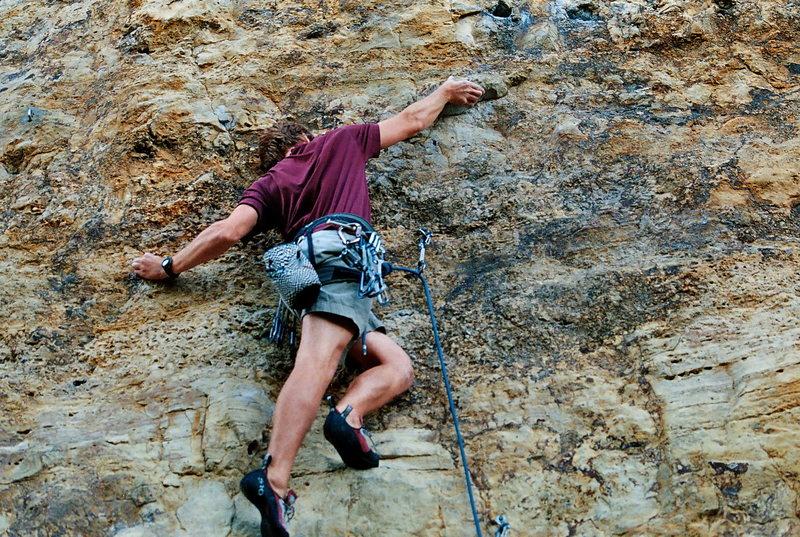 Rock Climbing Photo: Technical crux