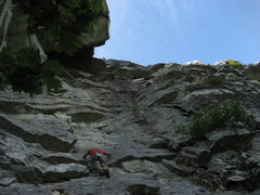 Rock Climbing Photo: Wider view of the route