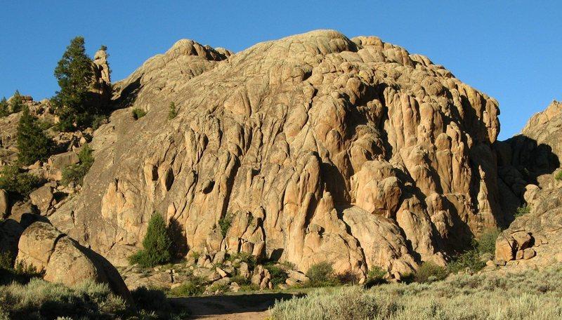 Rock Climbing Photo: Evening at Buddha's Belly Wall.