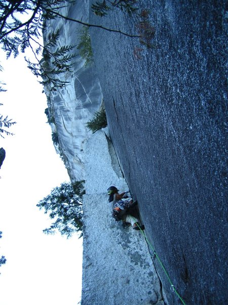 steep first pitch.  blue alien before the crux will help keep breakfast down.