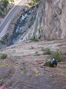 Rock Climbing Photo: Bob following playin hooky in ccc