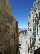 Rock Climbing Photo: the notch after the 5.8 downclimb (basically a set...