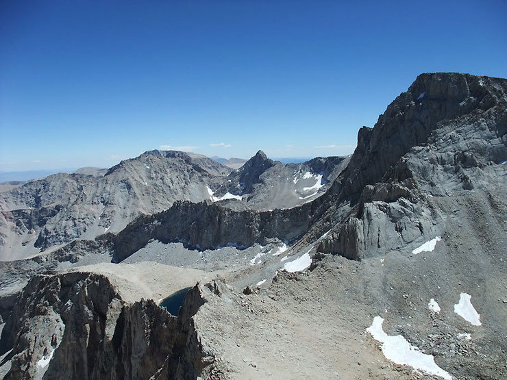Rock Climbing Photo: the Whitney saddle which you cross to approach the...