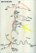 Rock Climbing Photo: Another map (also in Korean, though) that shows th...