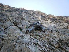 Rock Climbing Photo: First pitch of Evil Eye