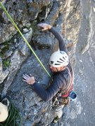 Rock Climbing Photo: Top of second pitch of Evil Eye