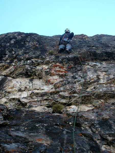 Rock Climbing Photo: Third pitch of Evil Eye