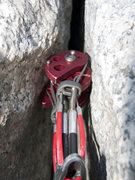 Rock Climbing Photo: Red Totem flared placement #2