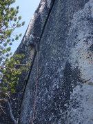 Rock Climbing Photo: Wide crack variation--#5 camalot!!!