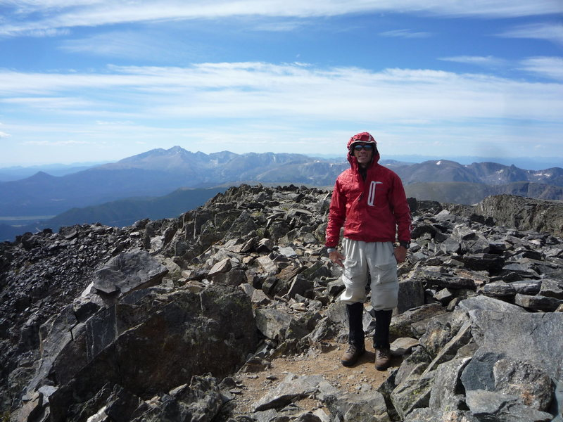 On the summit of Ypsilon looking towards Longs Peak.