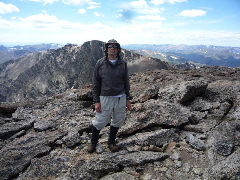 On the summit of Fairchild looking at Ypsilon.