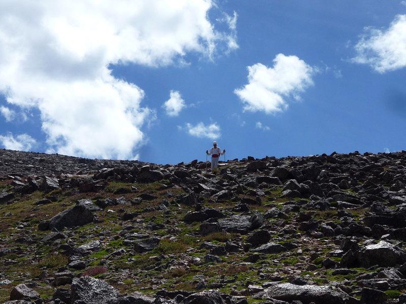 Descending Fairchild Mountain.