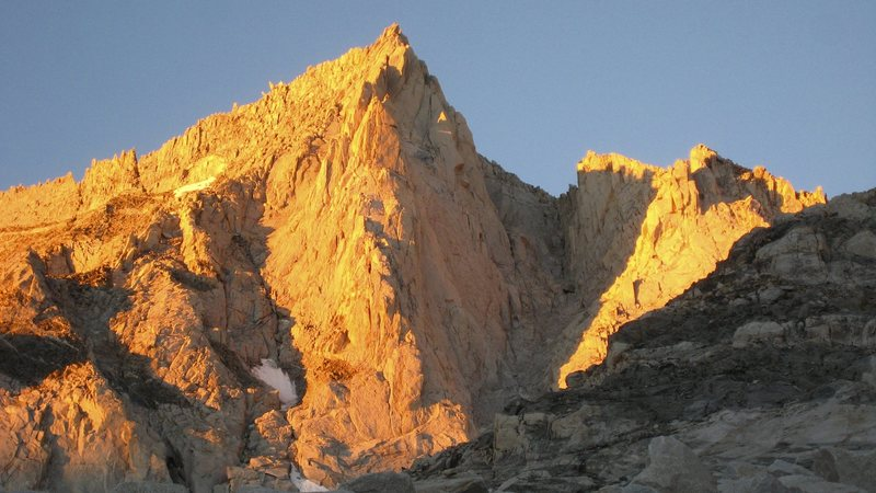 Rock Climbing Photo: First light on Bear Creek Spire